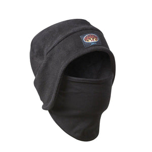 Rasco FR Black Fleece Hat with Face Cover BFH32 Black / NFH31 Navy - Fire Retardant Shirts.com