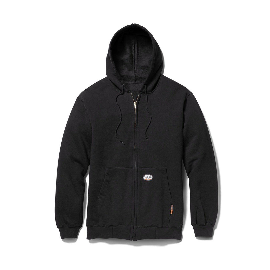 Rasco FR BLF1154 Black Zipper Hooded Sweatshirt