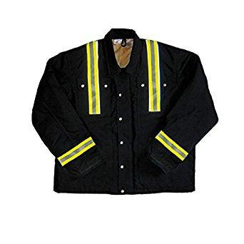 Rasco FR FR3807BK Reflective Black Duck Heavy Coat