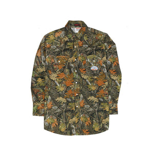 Rasco FR FR1003WC Woodland Camo Lightweight Work Shirt - Fire Retardant Shirts.com