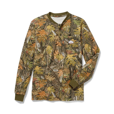 Rasco FR FR0101WC Woodland Camo Henley T-Shirt - Fire Retardant Shirts.com