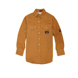 Rasco FR FR1007BN Brown Duck Heavyweight Work Shirt - Fire Retardant Shirts.com