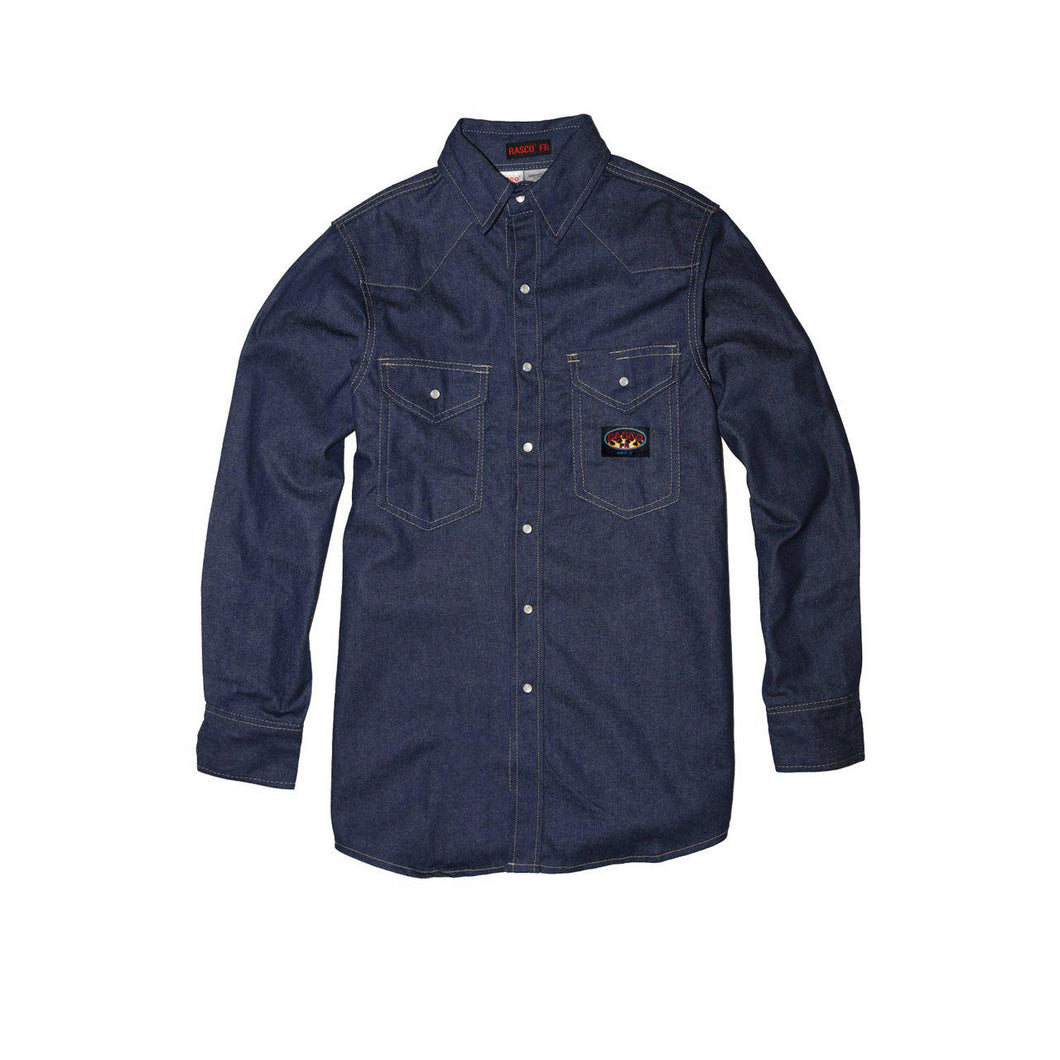 Rasco FR FR1022DN Denim Heavyweight Work Shirt - Fire Retardant Shirts.com