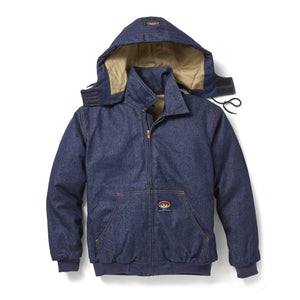 Rasco FR FR3522DN Denim Hooded Jacket - Fire Retardant Shirts.com