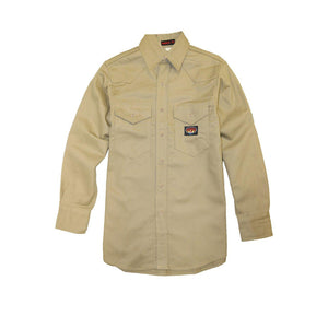 Rasco FR FR0904KH Khaki Heavyweight Work Shirt