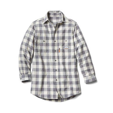 Rasco FR FR0824GY/WH Gray & White Plaid Shirt