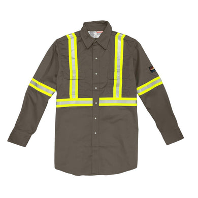 Rasco FR GR754-S Gray Reflective Work Shirt