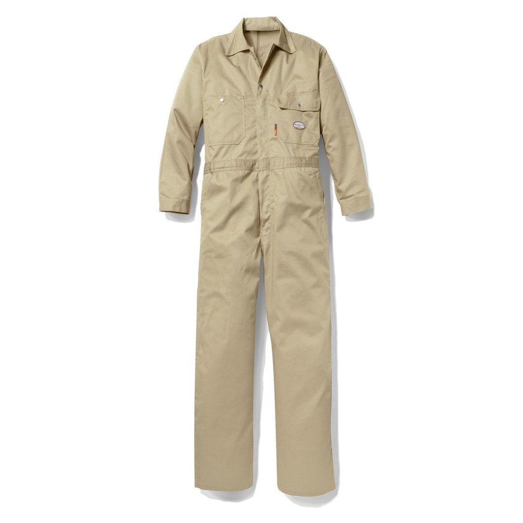 Rasco FR FR2803KH Khaki Lightweight Coverall - Fire Retardant Shirts.com