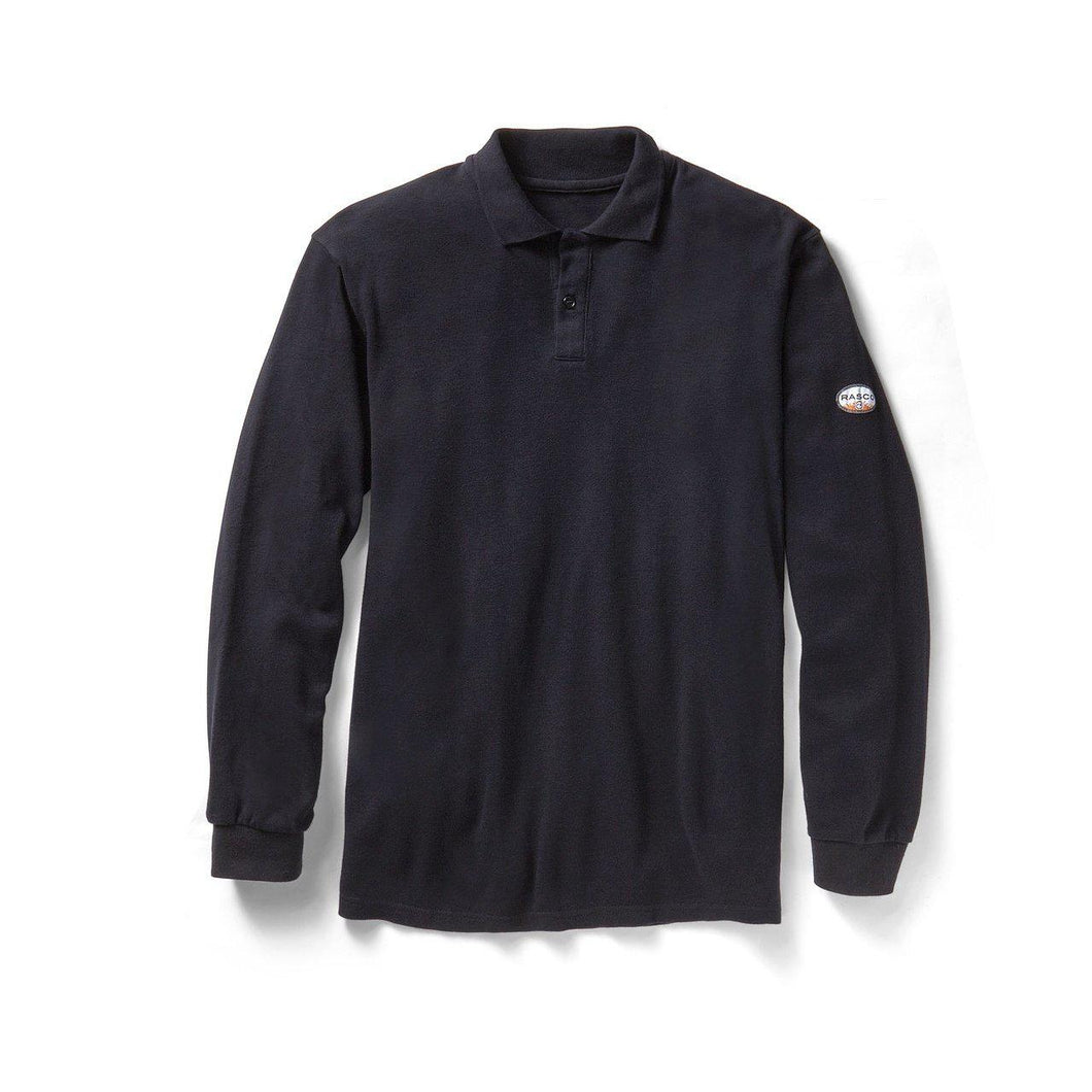 Rasco FR M-NLS320 NAVY Long Sleeve Polo
