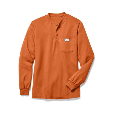 Rasco FR FR0101OR Orange Henley T-Shirt - Fire Retardant Shirts.com