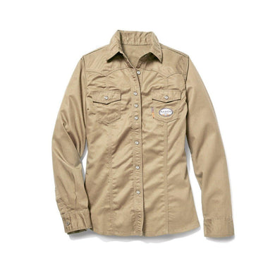 Rasco FR FR5003KH Women's Khaki Work Shirt