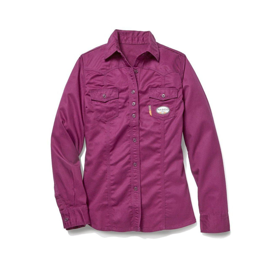 Rasco FR FR4903PL Women's Plum Work Shirt