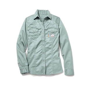 Rasco FR FR4903SG Women's Sage Green Work Shirt