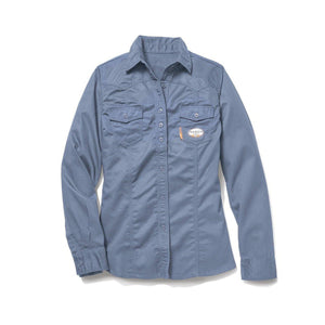 5fd51ada774b Rasco FR FR5003WB Women s Work Blue Work Shirt – Fire Retardant ...