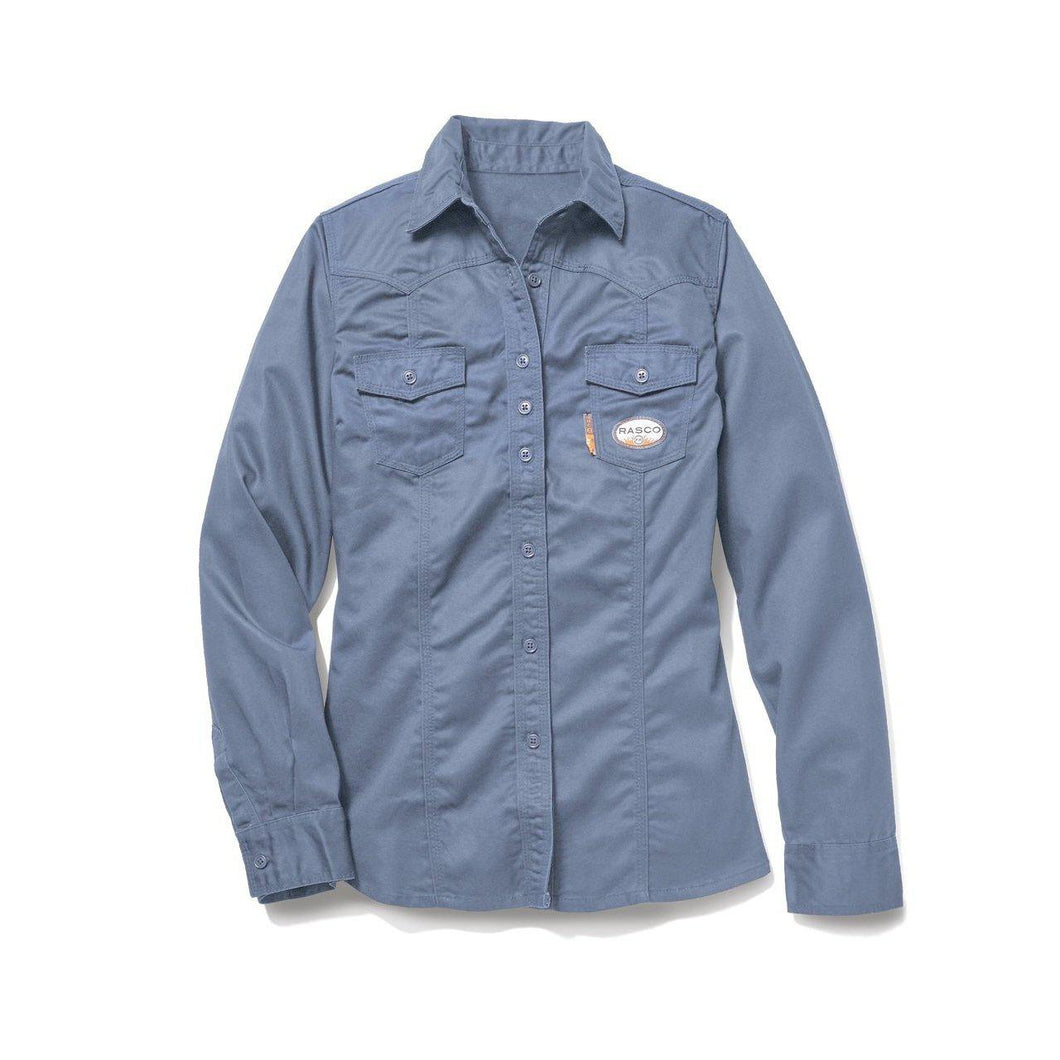 Rasco FR FR5003WB Women's Work Blue Work Shirt