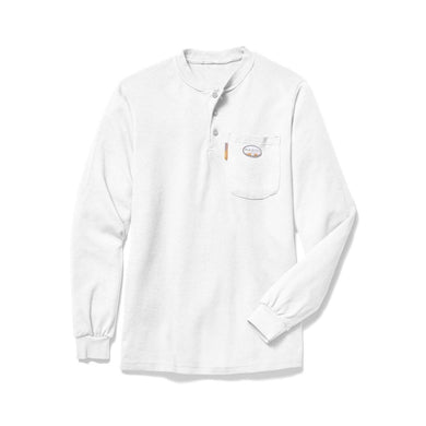 Rasco FR FR0101WH White Henley T-Shirt - Fire Retardant Shirts.com