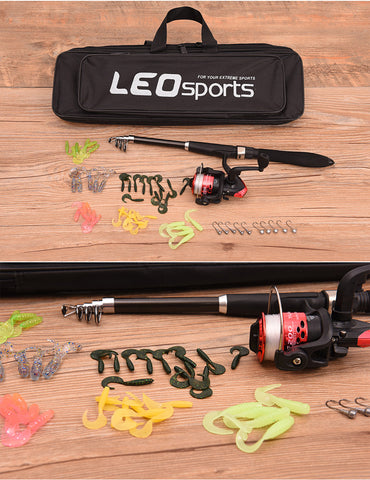 Bag Tackle Fishing Rod 1.6M +  Ree l+ Hook + Lure