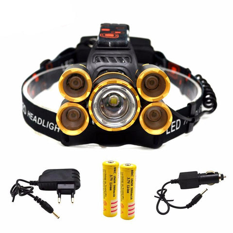 LED Head Lamp 18000lm Zoomable