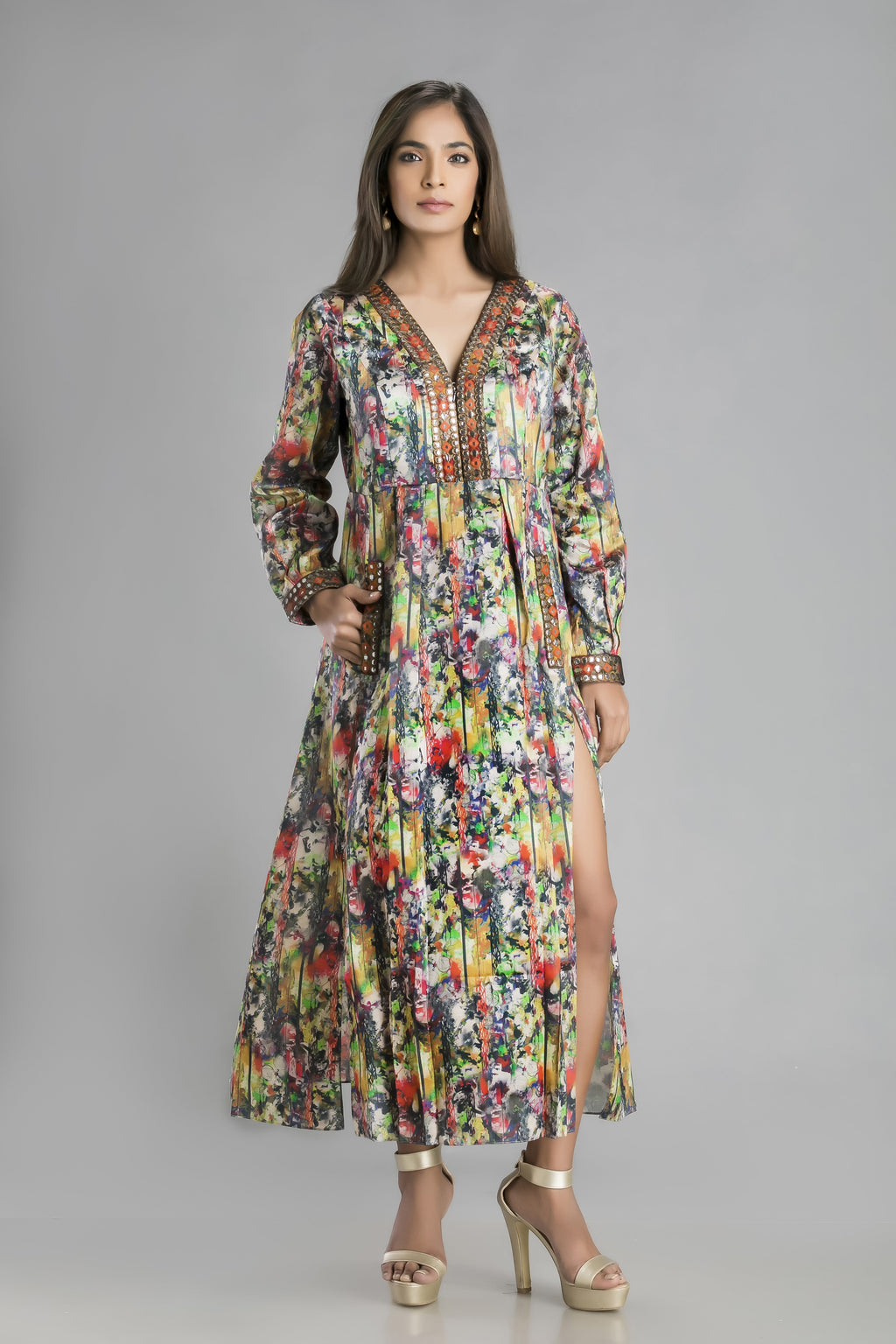The Busy Print Bohemian Dress for the new relaxed look