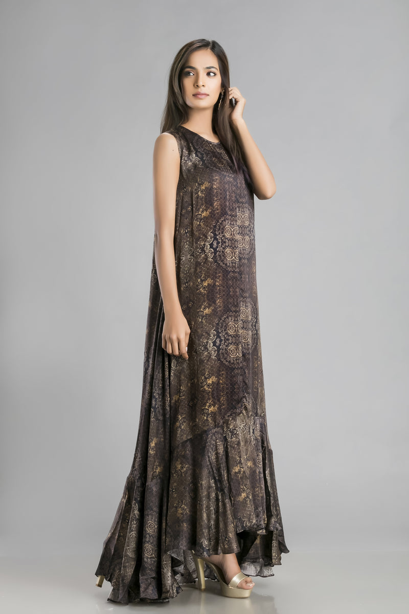 Mesmeric Magic – A Chiffon Dress to Feel the Vibe in
