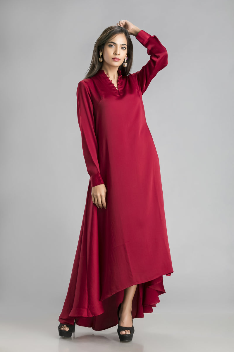 Desire-A rich maroon coloured dress to set the evening on fire