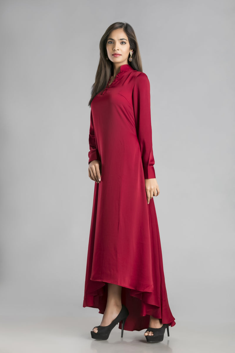 Desire-A rich maroon colored dress to set the evening on fire