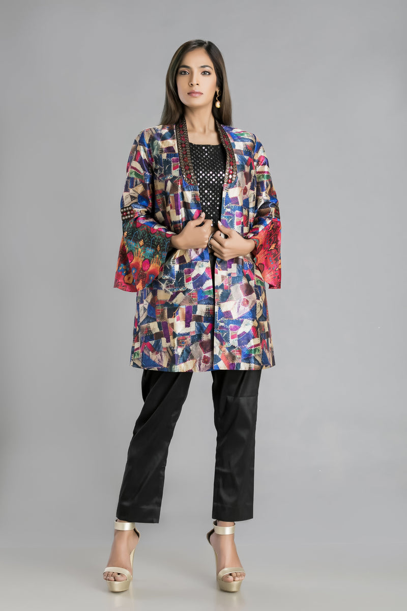 Sequin Rhapsody-A sassy ethno-modern pant suit