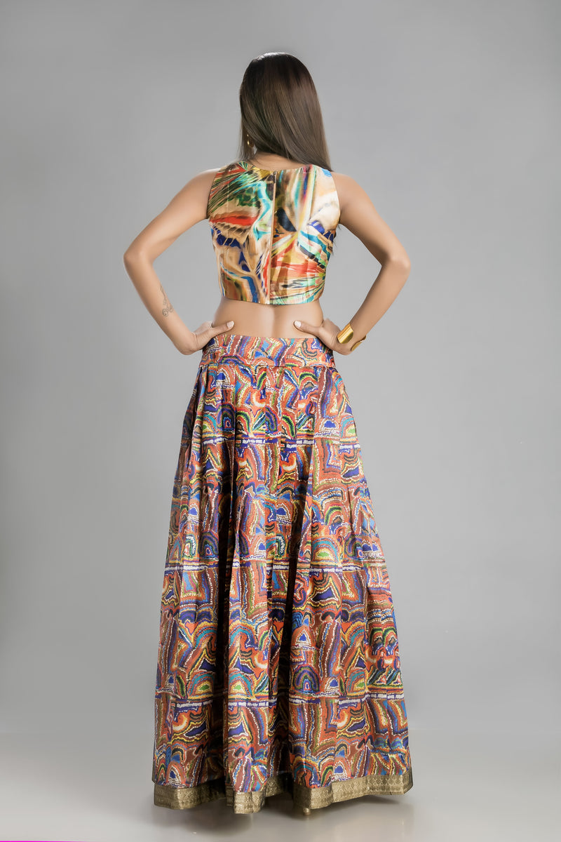 The Mystical Cosmic Print Skirt and Top