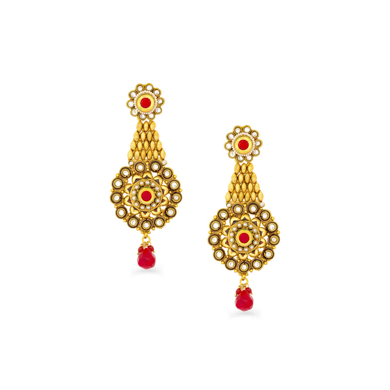 Floral Dangler Traditional Earring