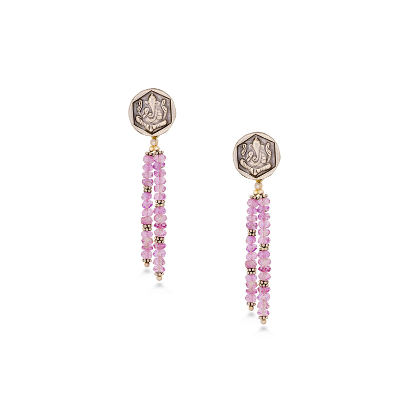 Pretty Ganesha Tassel Dangler Earrings
