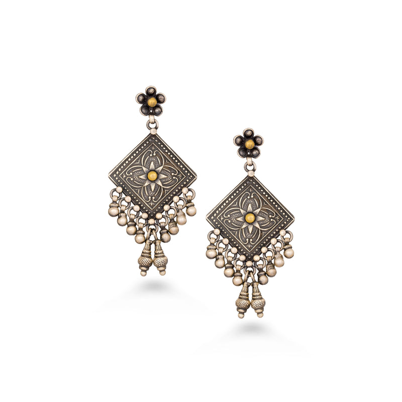Dainty Geometric Dangler Earrings