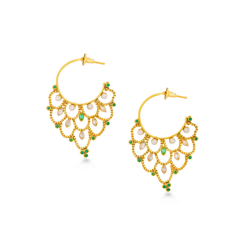 Intricate Jali Hoop Earrings