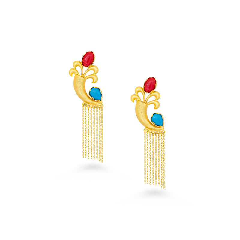 Unique Dangler Tassel Earring