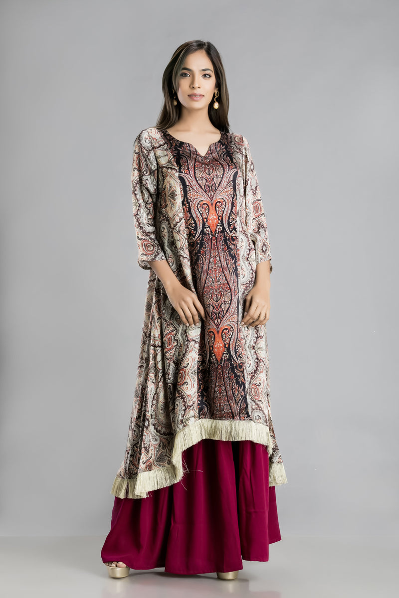 Gulistan-Satin in Multiple Hues and patterns for an easy wear Kurta and Garara