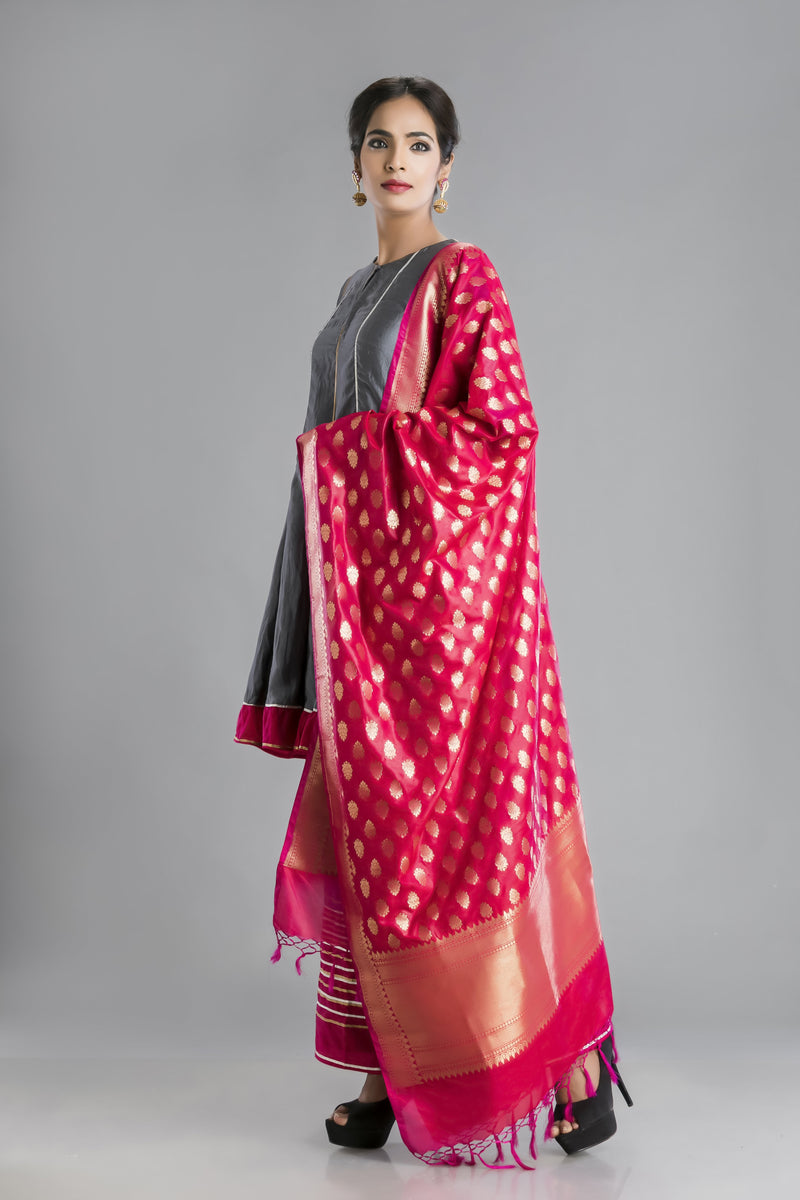 Shararat-A mix of youthful pink with the depth of grey