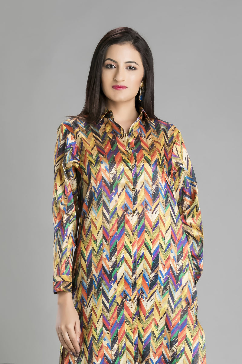 Ravissant-The Smart Comfort Super Cool Shirt and Palazzo Duo