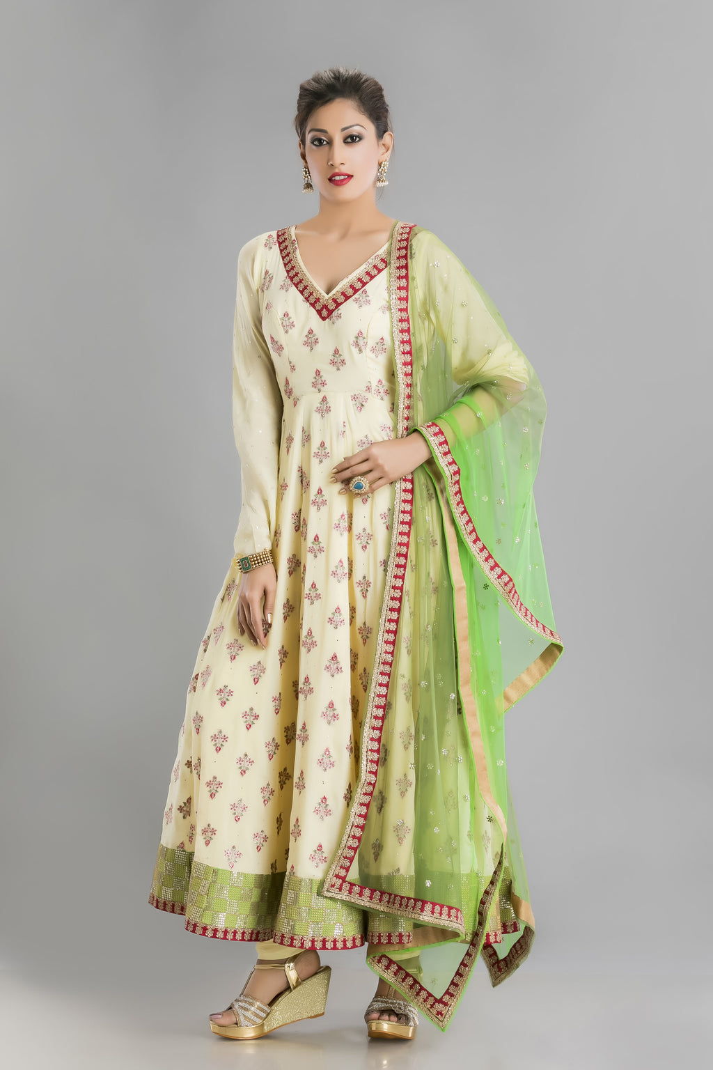 Subah- For a fresh new look at traditional anarkali