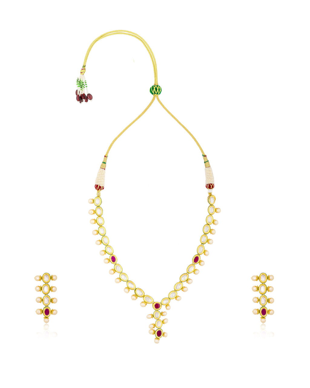 Pretty Symmetric Kundan Necklace Set