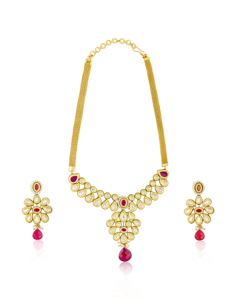 Gorgeous Polki Necklace Set