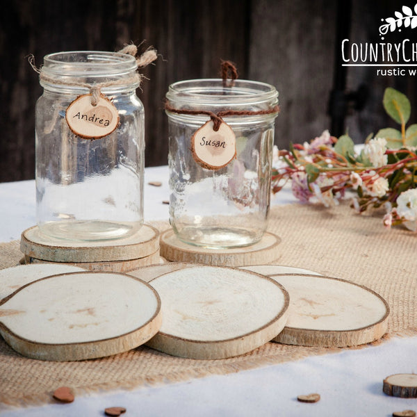 Wood Slice Drink Coaster
