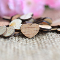 Wood Hearts Confetti ~ 0.5""