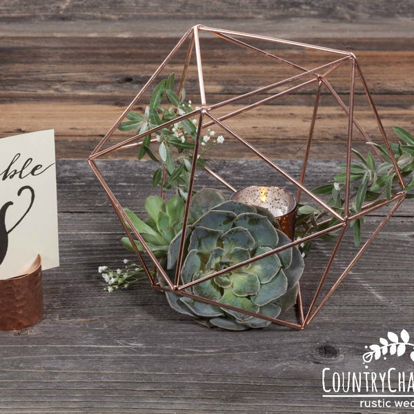 Copper Table Number Holder ~ Copper Place Card Holder ~