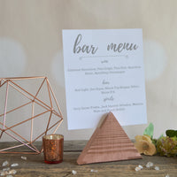 Triangle Wedding Sign Holder • Choose Your Color