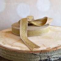 Gold Lace and Burlap Ribbon