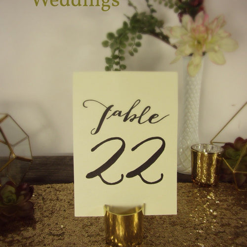Gold Table Number Holder