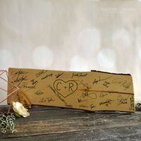 Wood Slab Guest Book