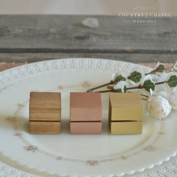 Square Place Card Holder • Choose Your Color