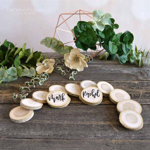 Aspen Wood Slice Place Card