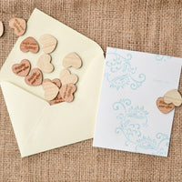 """Happily Ever After"" Wood Heart Confetti"