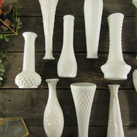 Milk Glass Bud Vase Assortment